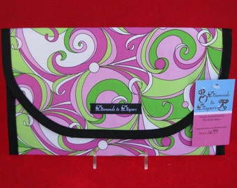 Groovy Swirls Diaper and Wipes Case Holder Clutch