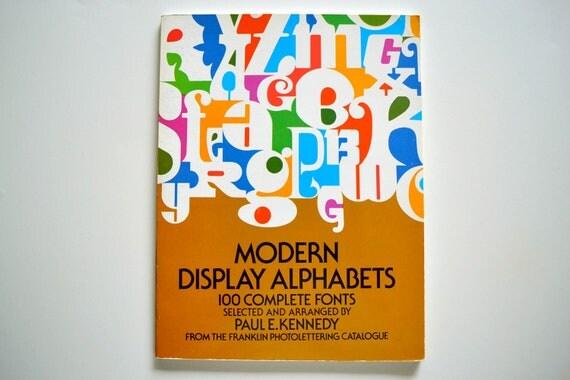 Modern Display Alphabets - 1974