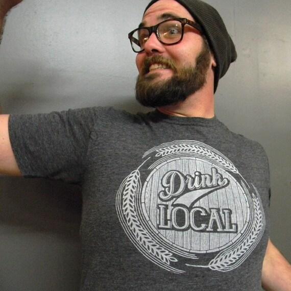 Medium - Drink Local - mens crew neck