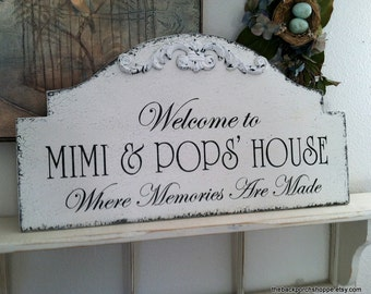 FAMILY SIGN, Personalized Family Sign, Grandparents Sign, Gifts for Grandparents, Beach House Sign, Lake House Sign, 25 x 13