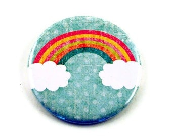 Purse Mirror Pocket Mirror  in  Over The Rainbow (PM75)