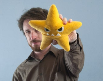 Small Starfish Fleece Plush - Yellow