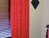 Custom Ruffled Curtain Panel, You pick the Color