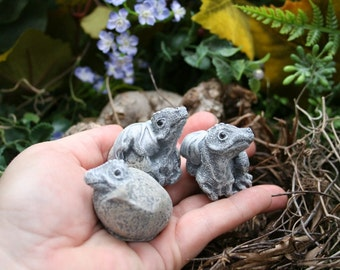 Baby Dragon Hatchlings - 3 Concrete Dragon Statue Sculptures for Your Fairy Garden