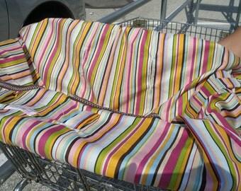 Boutique Shopping Cart Cover Beautiful STRIPES Mini Mooo Shopping Cart Cover