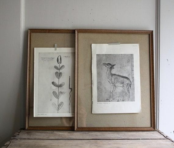 mid century metal picture frames faux bois