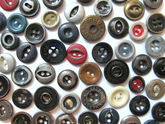 Industrial Vintage Buttons