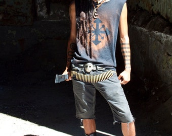 Men's Battered Chaos Shirt Post Apocalyptic