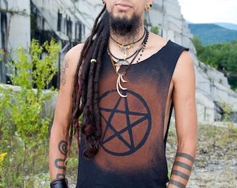 Post Apocalyptic Destroyed Men's Pentagram Pentacle Shirt Tank
