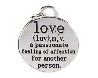 2 Love Definition Charms / Pendants - REDUCED - SALE - Was 2.49 Each - Now - 2 for 3.25