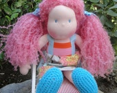 """Meet Emma 17"""" Handcrafted Waldorf Inspired Doll"""