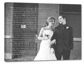 Geezees Custom Canvas Artwork Personalized Personalized Cotton Anniversary Gift photo words, lyrics, memories Bridal 18X24