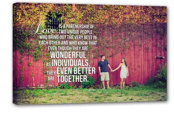 Wedding sign Canvas Art Personalized Your Photo and Words CUSTOM vows lyrics Wedding Anniversary Gift Art  36X48 inches