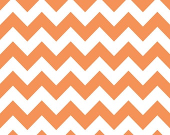 Riley Blake Designs, Medium Chevron in Orange (C320 60)