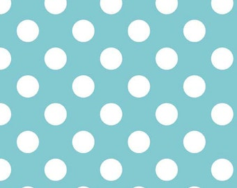 Riley Blake Designs, Medium Dots in Aqua (C360-20)