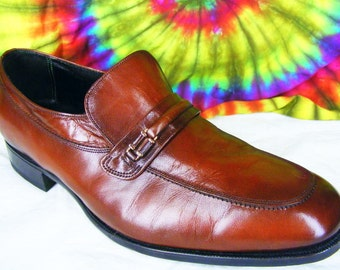 11 D mens vintage brown leather FLORSHEIM IMPERIAL loafers shoes NOS