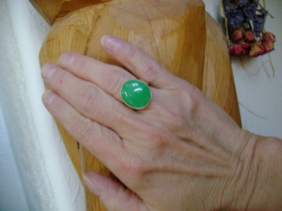 Chrysoprase Ring - Size 7.25