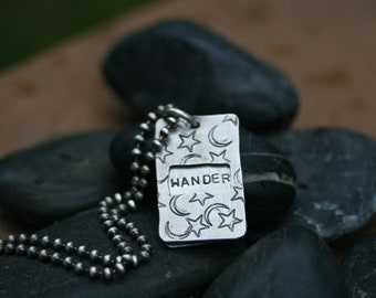 Not All Who Wander Are Lost Window Necklace