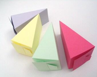 popular items for cake slice boxes on etsy. Black Bedroom Furniture Sets. Home Design Ideas
