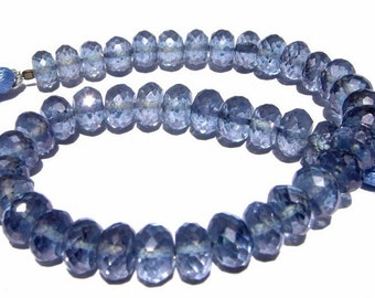 8 Inches - Finest Quality Blue Mystic Quartz Micro Faceted Rondelles Size 7 - 7.5mm Stunning Quality Great Price