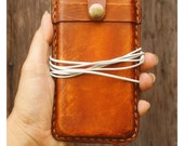 NEW iPhone 5 ,5c ,5s iPhone Case Hand Stitched Leather Sleeve - Rustic Vintage stlye - Unisex / Men Gift