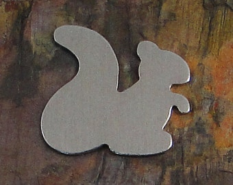 """10 Deburred 18G Aluminum 1 1/4"""" x 1 1/4"""" Squirrel Stamping Blanks"""