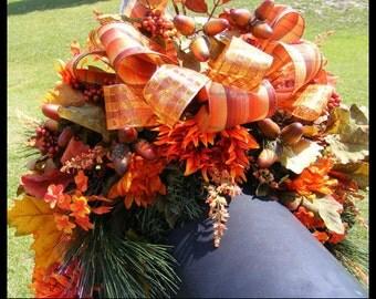 Fall Mailbox Swag, Autumn Mailbox Swag, Mailbox Cover, Thanksgiving Swag, Fall Wreaths, Autumn