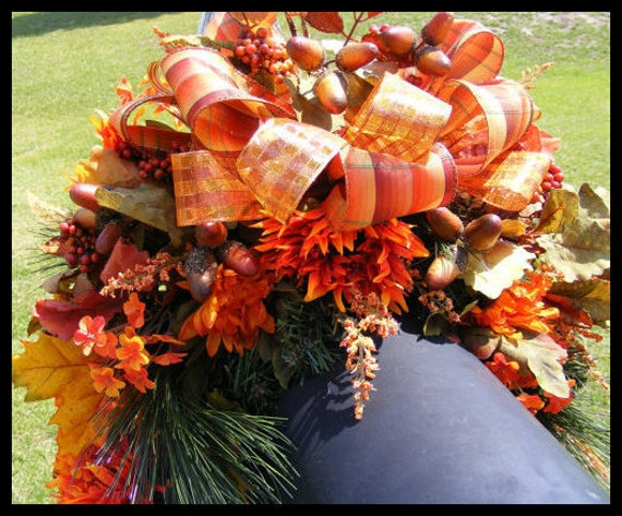 Fall Mailbox Swag, Autumn Mailbox Swag, Mailbox Cover, Thanksgiving Swag, Fall Wreaths, Autumn