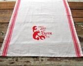 Cajun Crawfish Vintage Red Stripe Cotton Towel