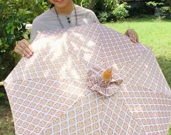 Unique Thai parasol white and gold color SIZE M