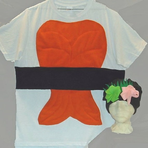 Adult diy do it yourself costume halloween costume sushi description guaranteed delivery within 1 week of purchase diy sushi costume solutioingenieria Images
