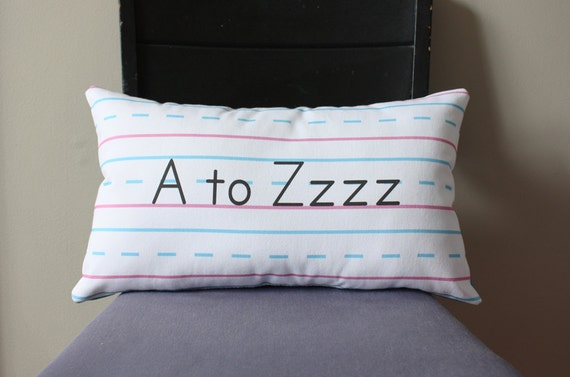 Penmanship Pillow - A to Zzzz