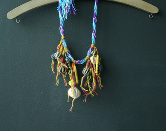 Eco Funky Necklace, made with Natural fibers.
