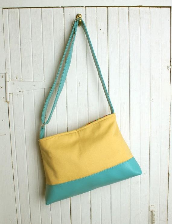 Color Block Cross Body Handbag