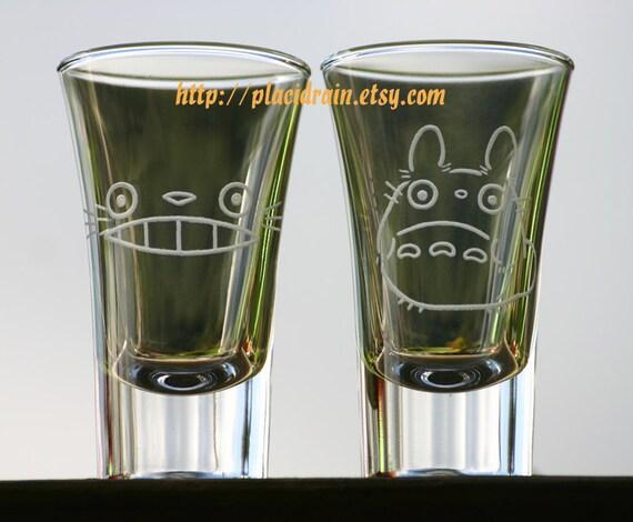 TOTORO Hand Engraved Fanart (Shot Glass Set - 2oz-)
