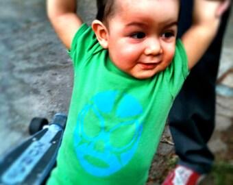 luchador baby onesie