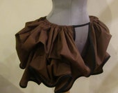 Choose Your Fabric and Trim Colors - Triple Full - Mini Add a Bustle Skirt by LoriAnn Costume Designs