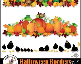 Halloween Borders Set 1 - 14 png clipart files {Instant Download}