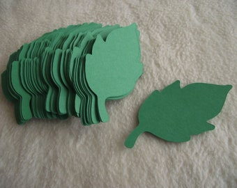 Paper Leaves...100 Piece Set of Very Pretty Paper Leaves Die Cut Scrapbooking Embellishments
