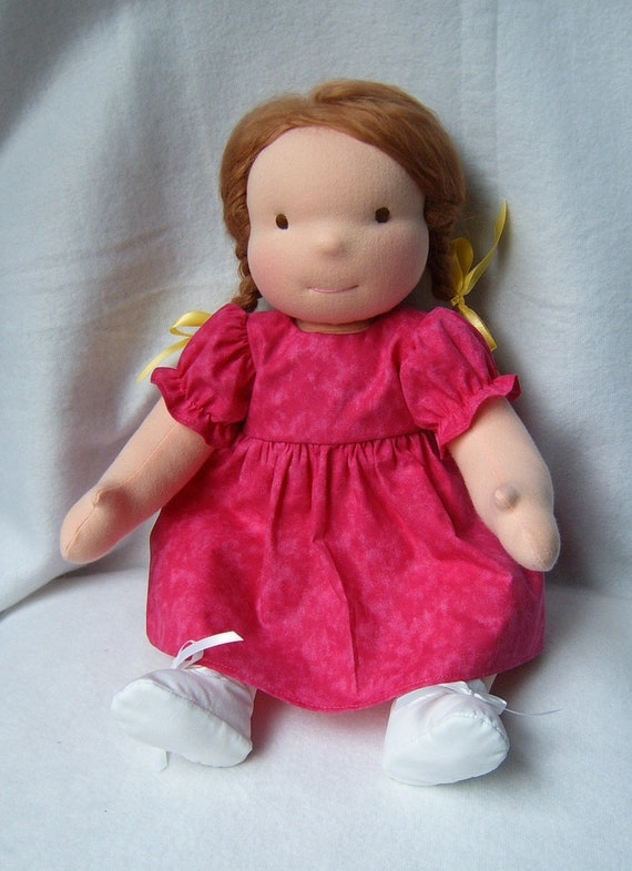 "Waldorf doll - 17"" with 2 outfits - Abby  Reserved for MacMurrough"