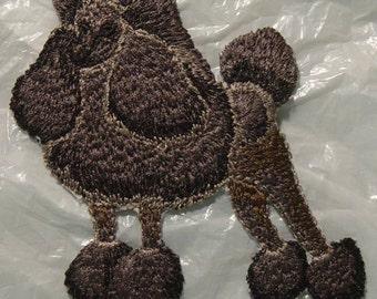 "Wonderful Black Poodle Iron on Patch - Applique  3.75"" x 2.75""  - FREE U.S. SHIPPING"