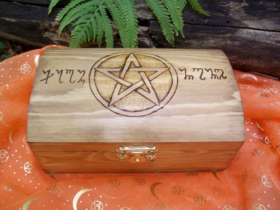 Pentacle Wood Storage Box