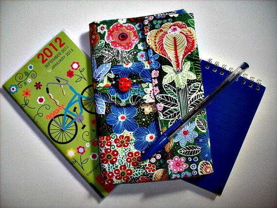 Bright and Bold Floral Personal Planner Wallet and Organizer