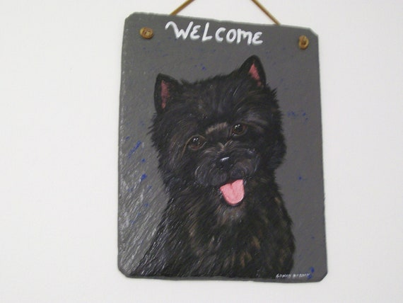 Cairn Terrier Welcome Slate (dark coat)