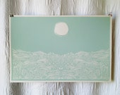 Blue Moon Field Screen Print