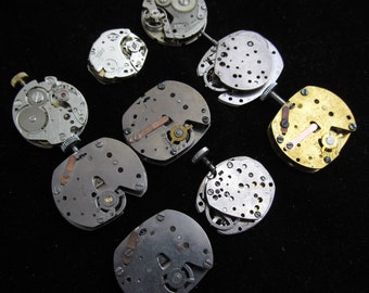 Vintage Antique Industrial Looking Watch Movements Steampunk Altered Art Assemblage ID 74