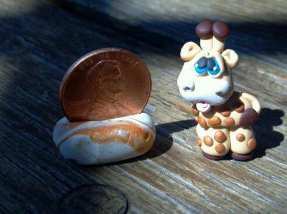 OOAK - Polymer Clay GIRAFFE - Miniature