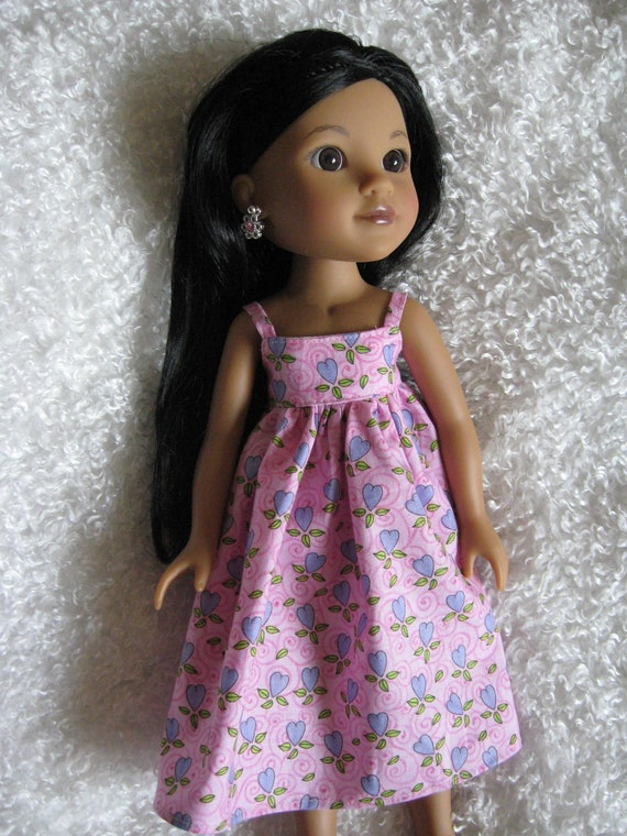 Pink Dress For Groovy Girl, Corolle Les Cheries or Hearts for Hearts Girls