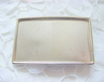 2 Belt Buckle Blank Bases Rectangle Antique Silver Finish 2-1/8 x 3.25 Inches (DP513