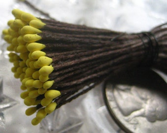 Millinery Flower Stamen Made In Germany Flower Peps 100 Stems Brown And Yellow  86-9